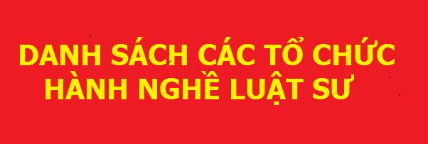 Danh sách các tổ chức Luật sư tỉnh Bắc Ninh